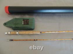 8'9 Hardy JJH Triumph Palakona Split Cane Fly Fishing Rod + Makers Bag