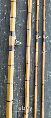 A Fine Hardy Deluxe Trout Splitcane Fly Rod 8ft 6in 2 Tips Built In 1960