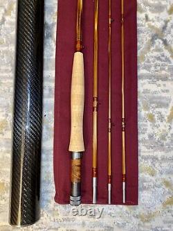 American Made Bamboo Fly Rod 76 5-6 weight 3/2 with bag and tube 5wt