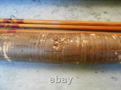 Antique 1935 F. E. Thomas Bamboo Fly Rod 9 footer 3/2 aluminum tube Bangor Rod