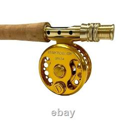 EatMyTackle Large-Arbor Saltwater Fly Fishing Rod & Reel Combo 3/4, 5/6, & 7/8