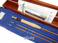 Farlows of Pall Mall 150 anniversary 7 10split cane trout fly rod 2 matchi