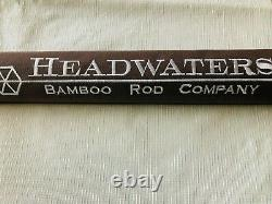 Headwaters Bamboo Fly Rod Premier Series Henry's Fork 7'9 5-wt 2/2 Flamed EUC