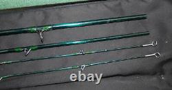 Loop Green Line 99, 3 piece, 2 tops graphite trout fly rod, bag & Loop Cordu