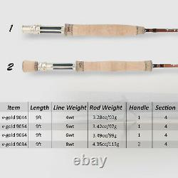 Maxcatch Gold Fly Fishing Rod 4/5/6/8WT 9FT Fast Action Graphite IM12 With Tube