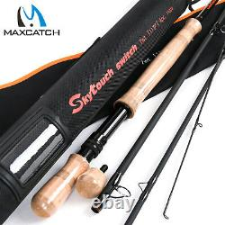 Maxcatch Two-Handed Switch & Spey Fly rods Fast Action Fly Fishing Rod with Tube