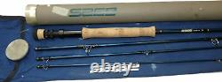 Sage X12 9 Graphite travel trout fly rod, line #7 with bag & alloy tube
