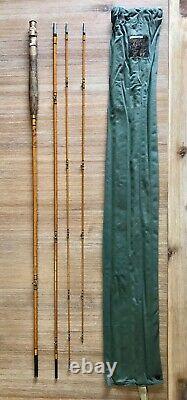 Vintage Hardys Hollokona The Hollolight 9' #5 3 piece Split Cane Trout Fly Rod