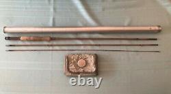 Vintage Heddon #14 Bamboo fly Rod 8-1/2-ft sock & tube Excellent