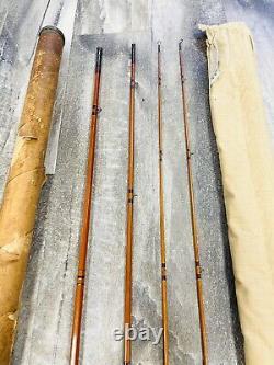Vintage James Heddon Bamboo Fly Rod 9 Excellent Rare Tube #20