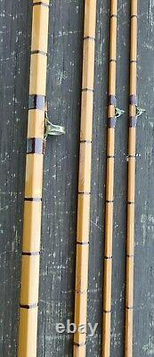 A Fine Hardy Deluxe Trout Splitcane Fly Rod 8ft 6in 2 Conseils Construit En 1960