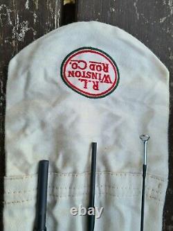 A Scarce R L Winston Fly Rod 9'6 #6 IL S'agit Du Tube De Sac À Main En Noyer