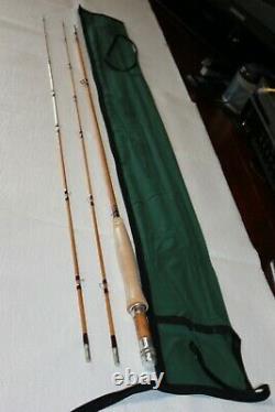 American Built Bamboo 7ft 4/5wt Avec2 Conseils Classic Taper Nouveau Avec Chaussette De Tige