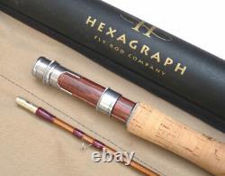 American Hexagraph Company 8 2 Pièces Graphite Truite Mouche Tige En Canne Fendue Co