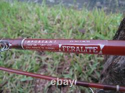 Collector's 2pc Fenwick Ff112s 9'3 10 Poids Feralite Verre Fly Rod Vintage