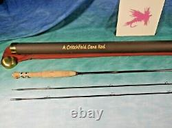 Critchfield 6'-6 4wt, 2pc/2tip Bamboo Fly Rod New Cane 466-2
