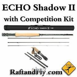 Echo Shadow II 3wt Euro Nymph Fly Rod Avec Kit De Compétition Gratuit Inclus 289 $