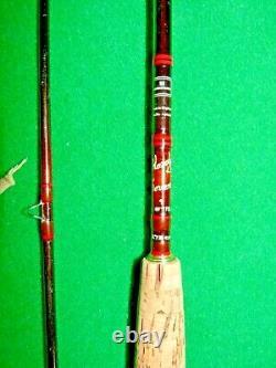 Fabuleux Hardy Sovereign 9' 7/8# Bâton De Carbone/bâton De Mer Bâton De Mouche Et Sac D'origine
