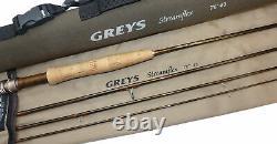 Greys Streamflex 76, 4 Pièces Graphite Tringle De Mouche D'omble De Fontaine, Taux De Ligne #3, Ba