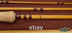 Jv Rod Co. 9935 Modèle Bamboo Fly Rod 8'3 3 Pièce Avec 4wt Tip Et 5wt Tip