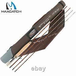Maxcatch Gold Fly Fishing Rod 4/5/6/8wt 9ft Action Rapide Graphite Im12 Avec Tube