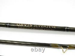 Orvis Truite Superfine Bum Tip-flex 9.5 Fly Rod. 7' 6 4wt. Avec Tube Et Chaussette