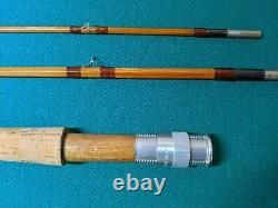 Rare Vintage Halstead Bamboo Fly Rod, 8' 3 Pc. Withxtra Tip