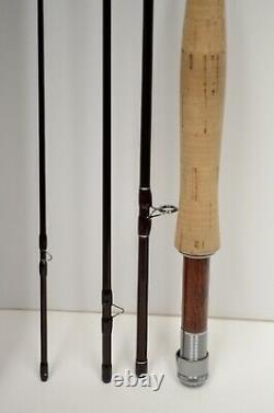 Redington Truite Classique 386-4 8'6 3wt 4pc Bâton De Pêche À La Mouche +cas Nice Condition
