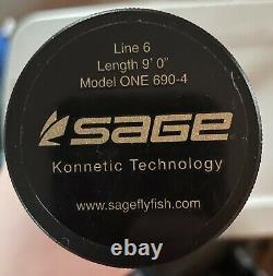 Sage One Fly Rod 9 6wt 906 Pêche À La Mouche