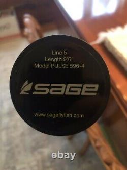 Sage Pulse 596-4 Tige À Mouche 9'6 5wt 4pc Nouveau Jamais Utilisé