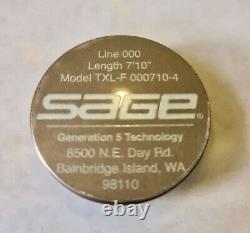 Sage Txl-f 000710-4 Bâton À Main Simple #000 7'10 4 Pièces. Très Rayonnée