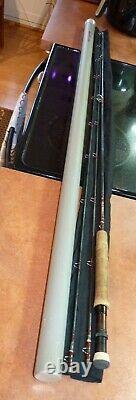 Scott 9' 3 Piã ̈ces Tige De Mouche, Case, G908/bt124, 8 Basse/trout, 3.8 Oz. Utilisé, Nice