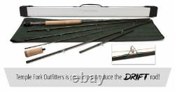 Temple Fork Outfitters Drift 9'-12'3 3 Wt 6pc Ajustable Fly Rod+case Free Ship