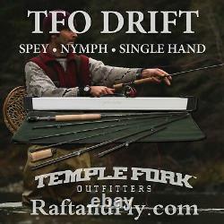 Tfo Drift 3wt Fly Rod Trout Spey/ Nymph/ Single Lifetime Warr Livraison Gratuite