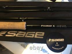 Tige Sage X Switch 8110-4 X Steelhead Fly Rod Doucement Utilisé Avec Tube De Tige