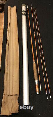 Vintage F. E. Thomas Special Bamboo Fly Rod 9'0 3/2 Bamboo Rod Avec Thomas Tube