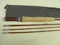 Vintage, Old Fidèle Rod Co. True Action Bamboo Canne À Mouche, W&m